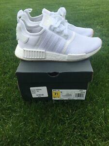New Adidas Men S Originals Nmd R1 Size 7 5 D96635 White White