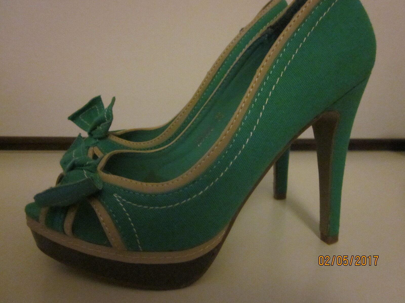 Peeptoes grün, neu, hoher Absatz Gr 35, neu, grün, Damen abf2d7