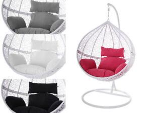 Swing-Chair-Haengestuhl-Haengesessel-weiss-Polyrattan-Tropfen-Kissen