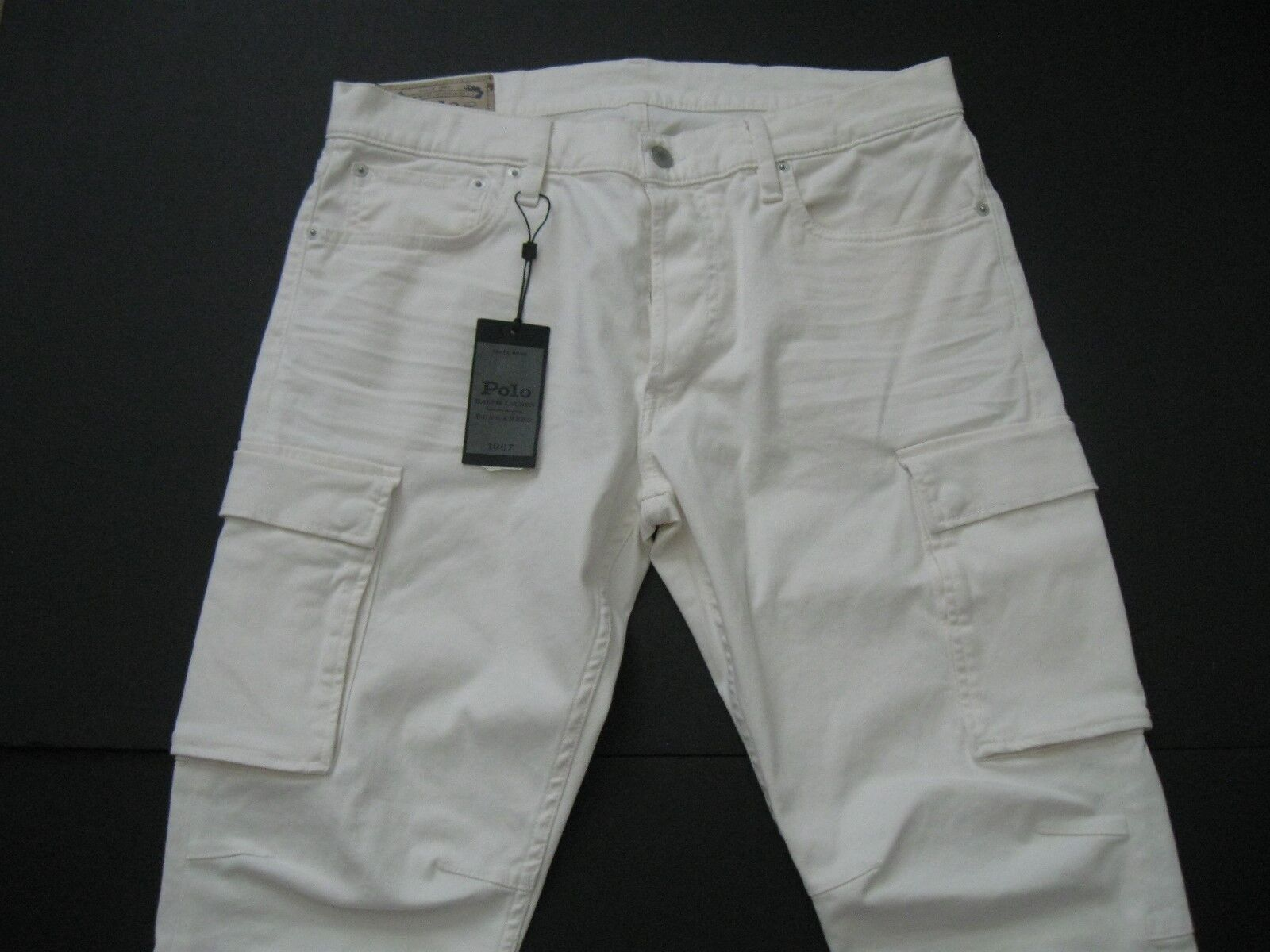 Polo Ralph Lauren men Cotone Crema Elastan Stretch Jeans Cargo
