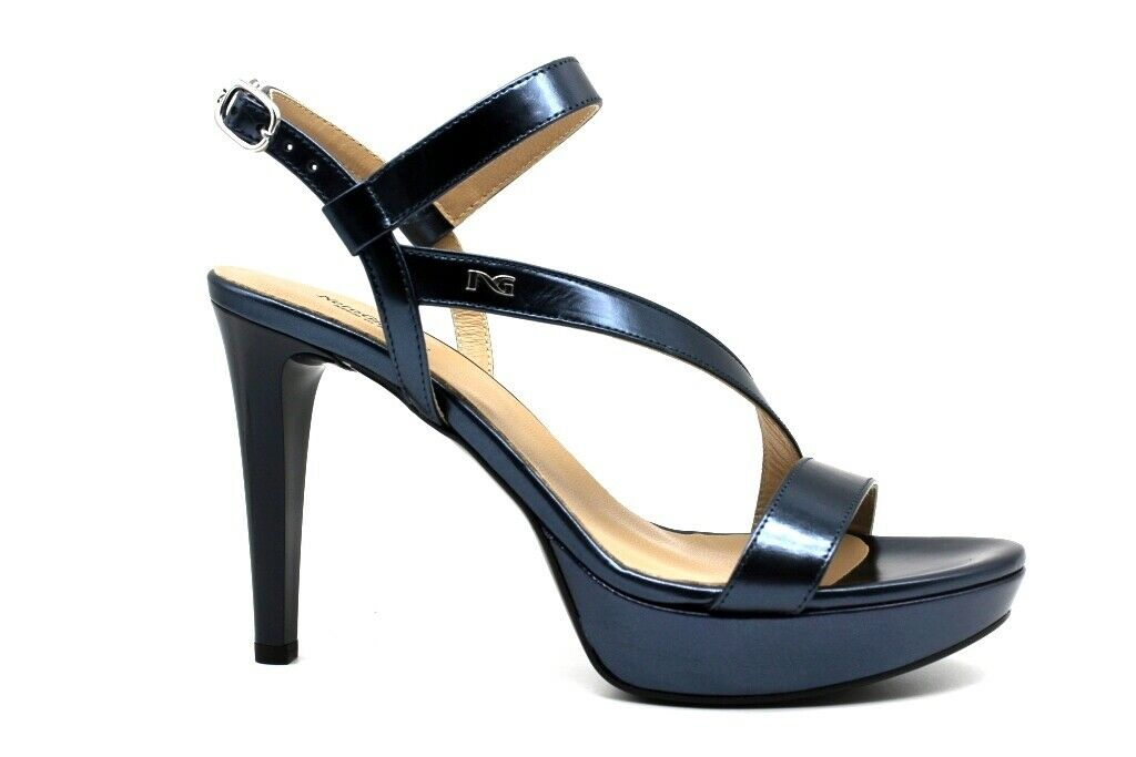 schwarz Giardini P908472DE Blau Schuhe Sandalen Elegant Absätze Hoch