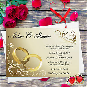 10-Personalised-Gold-Rings-Wedding-Day-Invitations-Day-amp-Evening-N8