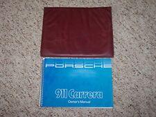 1985-1986 Porsche 911 Carrera Owner's Owners Manual Book w/ Case