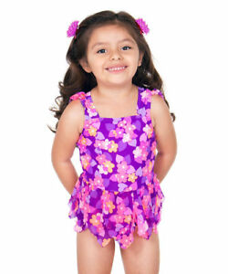 26ee0cde76 $38 NWT Hula Star Purple Enchanted Garden One-Piece Swimsuit Toddler ...