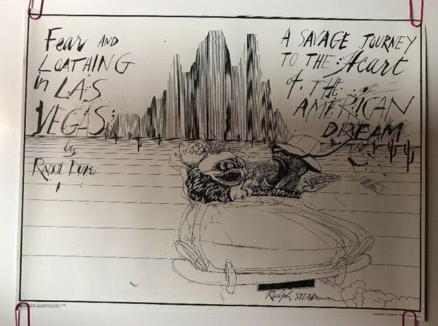 ART POSTER Fear and Loathing in Las Vegas Savage Journey Ralph Steadman
