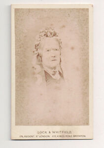 Vintage-CDV-Unknown-Matron-Lock-amp-Whitfield-Photo-Brighton-England