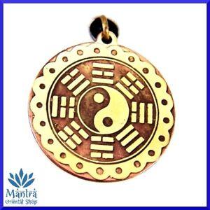 Amuleto-Talismano-Ciondolo-TAO-Yin-Yang-nell-039-anello-degli-8-triagrammi