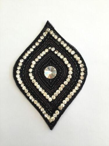 Good Quality 1 X Teardrop Shape Sew-On Motif//Embellishments