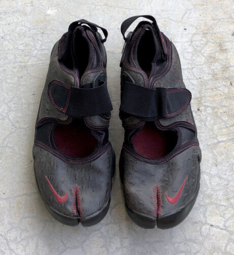 Nike Air Rift Sneakers Split Toe Ostrich Leather 6
