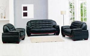 Desiger-Sofagarnitur-Couch-Polster-Wohnzimmer-Sitz-3-2-1-Set-Leder-Sofa