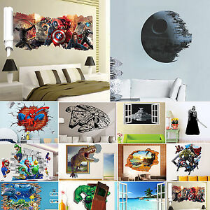 3D-Removable-Wall-Sticker-Mural-Art-Decal-Wallpaper-Child-Home-Bedroom-Decor-Hot