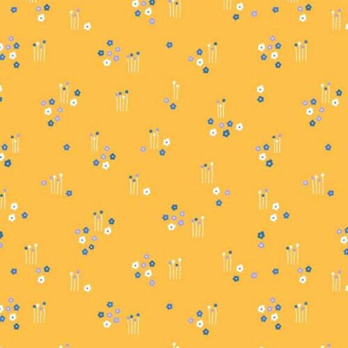 100/% Cotton Fabric Makower Floral Splendour Sparce Flower Fields Meadow Floral