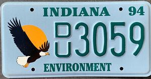 USA Nummernschild INDIANA ADLER EAGLE WILDLIFE 1994 - US Car Kennzeichen Schild
