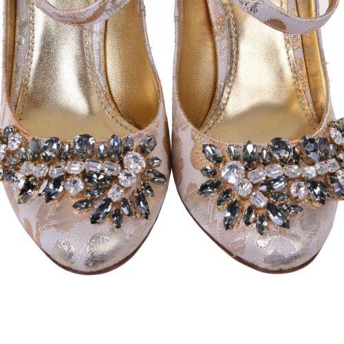 Mary Janes 5 Dolce Pump Us Brocade 2 4 Bnib Nuovo Eu Uk Gabbana Crystal 35 Scarpe 8gYnXqZ