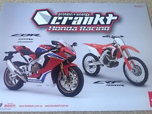 HONDA-MOTORCYCLE-DIRT-BIKE-TEAM-RACING-POSTER-ACERBIS-ALPINESTAR-ROCK-OIL-MOTUL