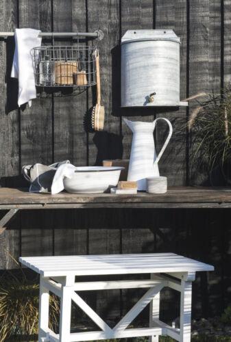 Waschgefäß Schüssel Emaille Creme Weiß 34x11cm Haushalts-Schale Camping-Geschirr