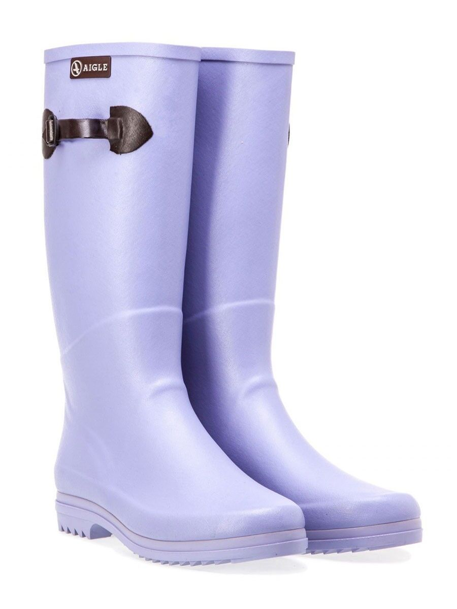Aigle Chantebelle Pop Wellington Boot Jade / Lavande - EU37-40 - MASSIVE 50% OFF