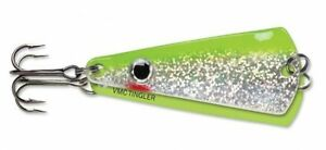 "VMC Tingler Spoon 2"" 3/16 oz TGS316-GCSH Glow Chartreuse Shiner Ice Fishing Lure"