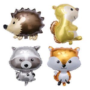 4-Stueck-Luftballons-Aluminiumfolie-Kinder-Cartoon-Tierdekoration-zum-Geburtstag
