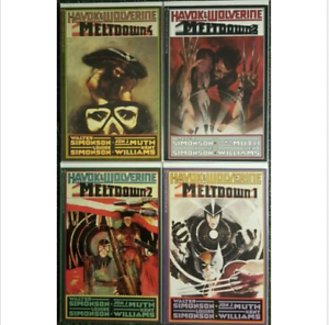 Havok-amp-Wolverine-Meltdown-Complete-Set-1-2-3-4-1988-Simonson-9-4-9-6