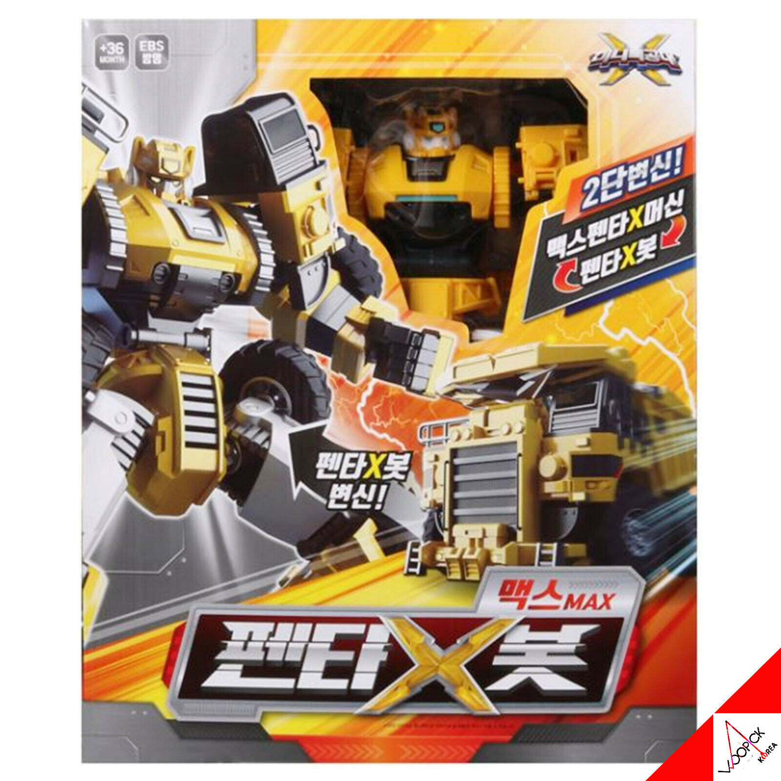 Mini Force 2019 PENTA X MAXBOT Ranger Max BOT Transformer Robot blindado Coche de juguete