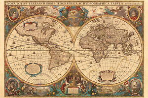 Antique world map 5000 piece ravensburger jigsaw puzzle image is loading antique world map 5000 piece ravensburger jigsaw puzzle gumiabroncs Images