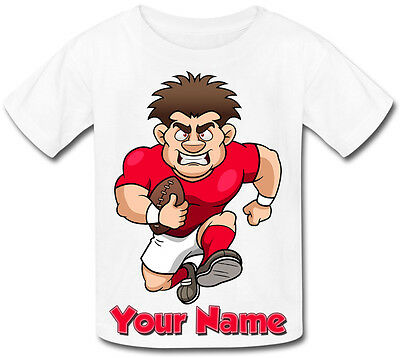 GREAT GIFT FOR ANY CHILD /& NAMED TOO RUGBY PLAYER PERSONALISED BABY T-SHIRT
