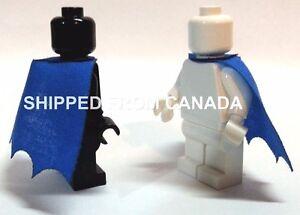 2pcs BLUE cape Custom clothing cloak accessory LEGO Batman Robin Superman DC