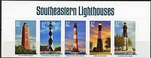 Obedient Southeastern Lighthouses Header Strip With Error Stamp Mnh Scotts 4146 To 4150 United States