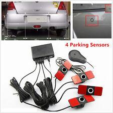 Car Parking Sensor System Rear View Backup Radar Alarm Kit 16MM 12V Flat Reverse