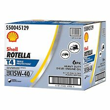 ROTELLA T 15W40 HEAVY DUTY MOTOR OIL 1 GALLON BOTTLES EACH 6 PACK FREE SHIPPING