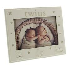 Twins Photo Frame Gift - Twin Baby Frame With Icons CG1129