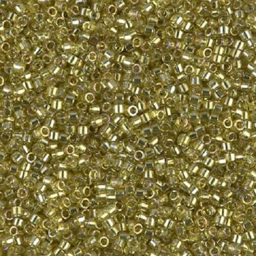 Delica Beads 7.5g Round #11 transparent yellow gold luster yellow-green DB0124