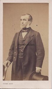 Uomo A Cappello Da Pierre Petit Parigi Francia CDV Vintage Albumina Ca 1860