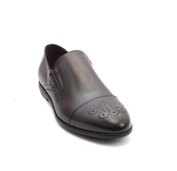 ROBERTO SERPENTINI 45220 Dark Brown Pelle Classic Dress Shoes 45 12 / US 12 45 91ac01
