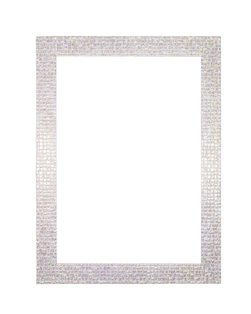 retro moderno Plano Brillo Efecto Espejo mosaico MARCO DE FOTOS ...