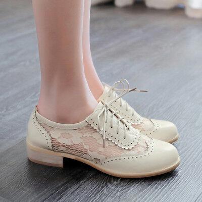 Low Heels Brogue Shoes