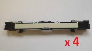 4-Stueck-OPEL-Dachtraeger-Blende-Abdeckung-Zafira-B-Astra-H-Grau-Grundiert