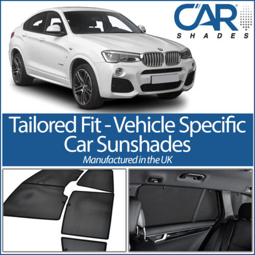 BMW X4 2014 On 5 DOOR UV CAR SHADES WINDOW SUN BLINDS PRIVACY GLASS TINT SPORT