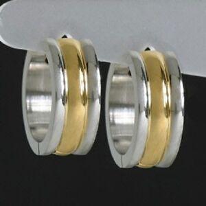 Das Bild wird geladen Titan-Titanium-Klappcreolen-Kreolen-Ohrringe -Gold-tolle-schoene- 4a00c20db0