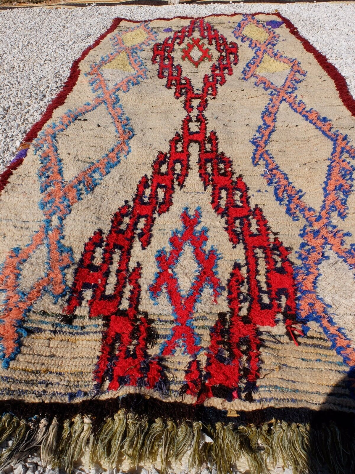 Beautiful Vintage Tribal MGoldccan Azilal     AZILAL Hand Woven  6'7'' 3'1'' 36ad0d