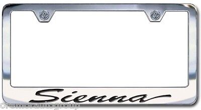 NEW Toyota Venza Chrome License Plate Frame Engraved Script Letters Set of 2