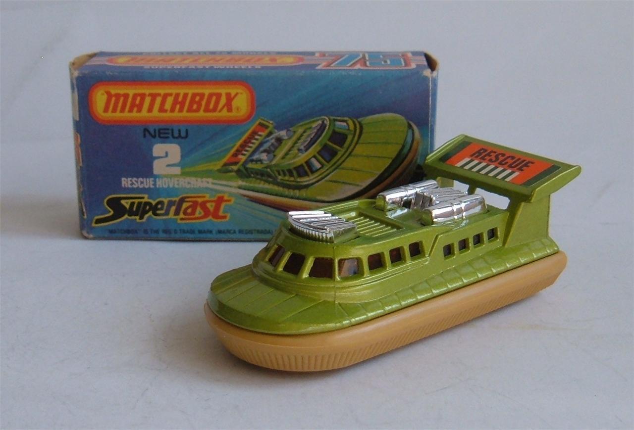 Matchbox Superfast No. 2, Rescue Hovercraft, - Superb