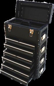 Metall Werkzeugtrolley B3-B BLACK EDITION mit Schubladenverriegelung und Schloss