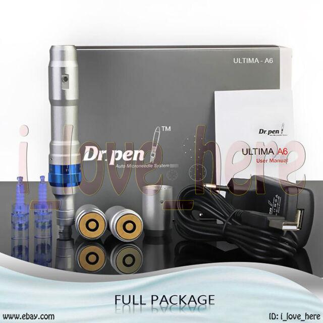 Ultima A6 Dr Pen Derma Pen Auto Electric 12 Micro Needles 2 Rechargeable  Battery