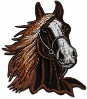Brown Horse Racehorse Diy Applique Embroidered Sew Iron On Patch - - No Tax on sale