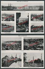 Konstantinopel Osmanen Dolmabahçe Galata Häuser Eyub Hafen Schiffe Moschee 1915