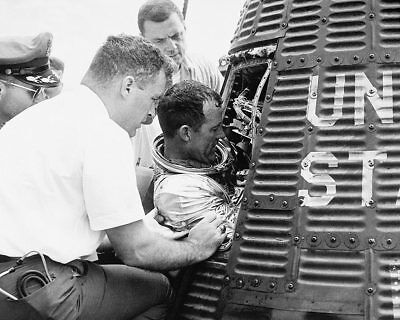 Gordon Cooper Exiting Mercury Faith 7 Capsule 11x14 Silver Halide Photo Print Vivid And Great In Style