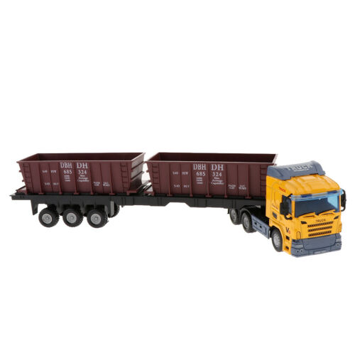 1:48 Toy Alloy Carrier Trucks Vehicles Engineering Car Model Collection Gift