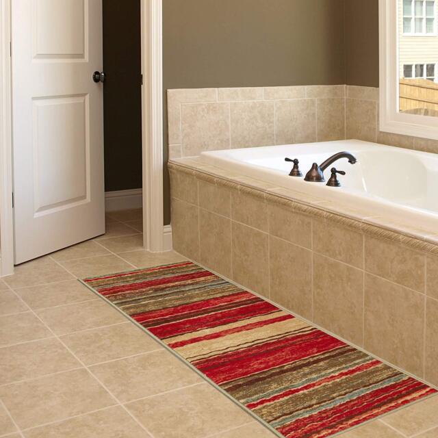 Long Hall Runner Rug Carpet Kitchen Hallway Area Multi Color Non Slip